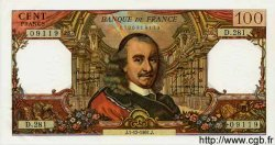100 Francs CORNEILLE FRANCE  1967 F.65.19 pr.SPL