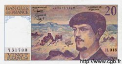 20 Francs DEBUSSY FRANCE  1986 F.66.07 SUP
