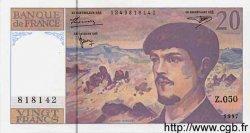 20 Francs Debussy modifié FRANCE  1997 F.66ter.02 SPL+