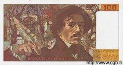 100 Francs DELACROIX imprimé en continu FRANCE  1990 F.69b.02 pr.NEUF