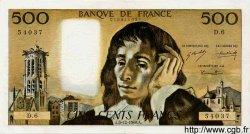 500 Francs PASCAL FRANCE  1968 F.71.02 pr.SUP