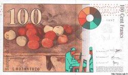 100 Francs CÉZANNE sans STRAP FRANCE  1997 F.74bis.01 NEUF