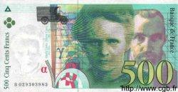 500 Francs PIERRE ET MARIE CURIE sans STRAP FRANCE  1994 F.76qua.01 SPL
