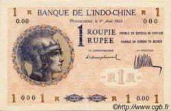 1 Roupie Walhain, 2ème type INDE FRANÇAISE  1923 P.04b SUP