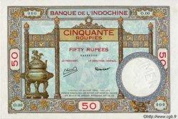 50 Roupies INDE FRANÇAISE  1945 P.07cs pr.NEUF