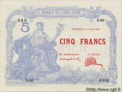 5 Francs, type 1925 NOUVELLE CALÉDONIE  1924 P.19s SPL