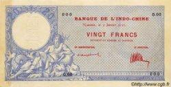 20 Francs NOUVELLE CALÉDONIE  1921 P.20s pr.SPL