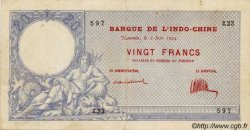 20 Francs, type IV 1888 NOUVELLE CALÉDONIE  1924 P.20 TB+