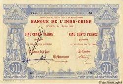 500 Francs, type I 1888 NOUVELLE CALÉDONIE  1898 P.13 SPL