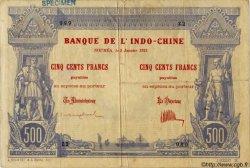 500 Francs, type II 1888 NOUVELLE CALÉDONIE  1921 P.22s pr.TB