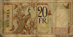 20 Francs au paon NOUVELLE CALÉDONIE  1927 P.37a B