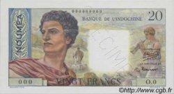 20 Francs NOUVELLE CALÉDONIE  1954 P.50as NEUF