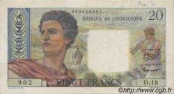 20 Francs NOUVELLE CALÉDONIE  1954 P.50a TTB+