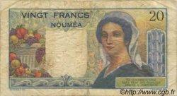 20 Francs NOUVELLE CALÉDONIE  1954 P.50b TB