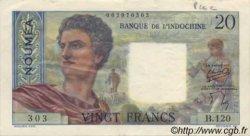 20 Francs NOUVELLE CALÉDONIE  1954 P.50b TTB+ à SUP