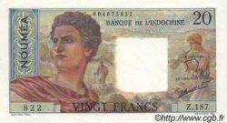 20 Francs NOUVELLE CALÉDONIE  1963 P.50c pr.NEUF