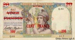 100 Francs type 1936 NOUVELLE CALÉDONIE  1939 P.39 TTB