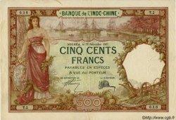 500 Francs, type 1927 NOUVELLE CALÉDONIE  1927 P.38s TB