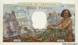 1000 Francs type 1938 NOUVELLE CALÉDONIE  1938 P.43a var pr.SPL