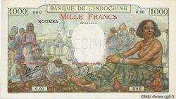 1000 Francs type 1938 NOUVELLE CALÉDONIE  1947 P.43b SPL+