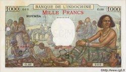 1000 Francs type 1938 NOUVELLE CALÉDONIE  1952 P.43c