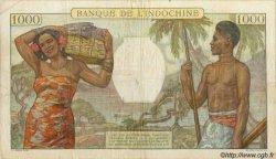 1000 Francs type 1938 NOUVELLE CALÉDONIE  1952 P.43c TB+