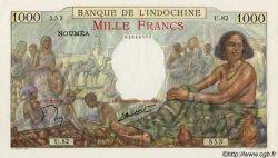 1000 Francs type 1938 NOUVELLE CALÉDONIE  1963 P.43d SPL