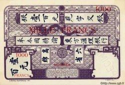 1000 Francs NOUVELLE CALÉDONIE  1939 P.40s SPL
