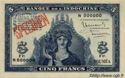 5 Francs NOUVELLE CALÉDONIE  1944 P.48s pr.SPL