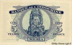 5 Francs impression australienne NOUVELLE CALÉDONIE  1944 P.48s pr.NEUF