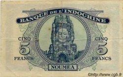 5 Francs impression australienne NOUVELLE CALÉDONIE  1944 P.48 TTB