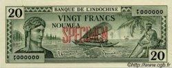 20 Francs NOUVELLE CALÉDONIE  1944 P.49s pr.SPL