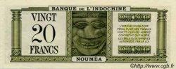 20 Francs impression australienne NOUVELLE CALÉDONIE  1944 P.49s pr.SPL