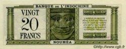 20 Francs NOUVELLE CALÉDONIE  1944 P.49 pr.NEUF