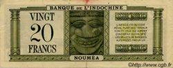 20 Francs impression australienne NOUVELLE CALÉDONIE  1944 P.49 TTB+