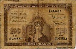 100 Francs NOUVELLE CALÉDONIE  1942 P.44 B