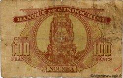100 Francs impression australienne 1942 NOUVELLE CALÉDONIE  1942 P.44 B