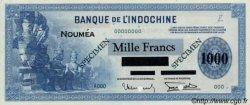 1000 Francs impression américaine 1941 NOUVELLE CALÉDONIE  1943 P.45 SUP+ à SPL