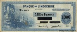 1000 Francs impression américaine 1941 NOUVELLE CALÉDONIE  1943 P.45 TB+