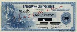 1000 Francs impression américaine 1944 NOUVELLE CALÉDONIE  1944 P.47bs TTB+