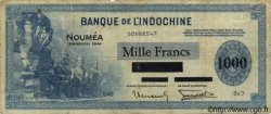 1000 Francs impression américaine 1944 NOUVELLE CALÉDONIE  1944 P.47b TB