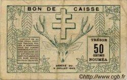 50 Centimes NOUVELLE CALÉDONIE  1942 P.51 TB