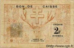 2 Francs NOUVELLE CALÉDONIE  1942 P.53 TB