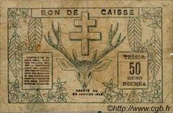 50 Centimes NOUVELLE CALÉDONIE  1943 P.54 B