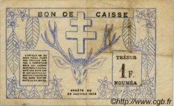 1 Franc NOUVELLE CALÉDONIE  1943 P.55b TB