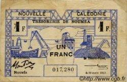 1 Franc type II NOUVELLE CALÉDONIE  1943 P.55a TB+