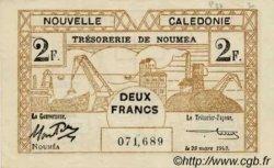 2 Francs type II NOUVELLE CALÉDONIE  1943 P.56a SPL