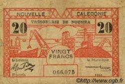 20 Francs type II NOUVELLE CALÉDONIE  1943 P.57b TB