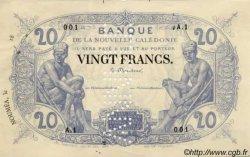 20 Francs NOUVELLE CALÉDONIE  1875 P. -s SPL