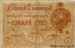 Cinq Francs NOUVELLE CALÉDONIE  1874 P.02 TB